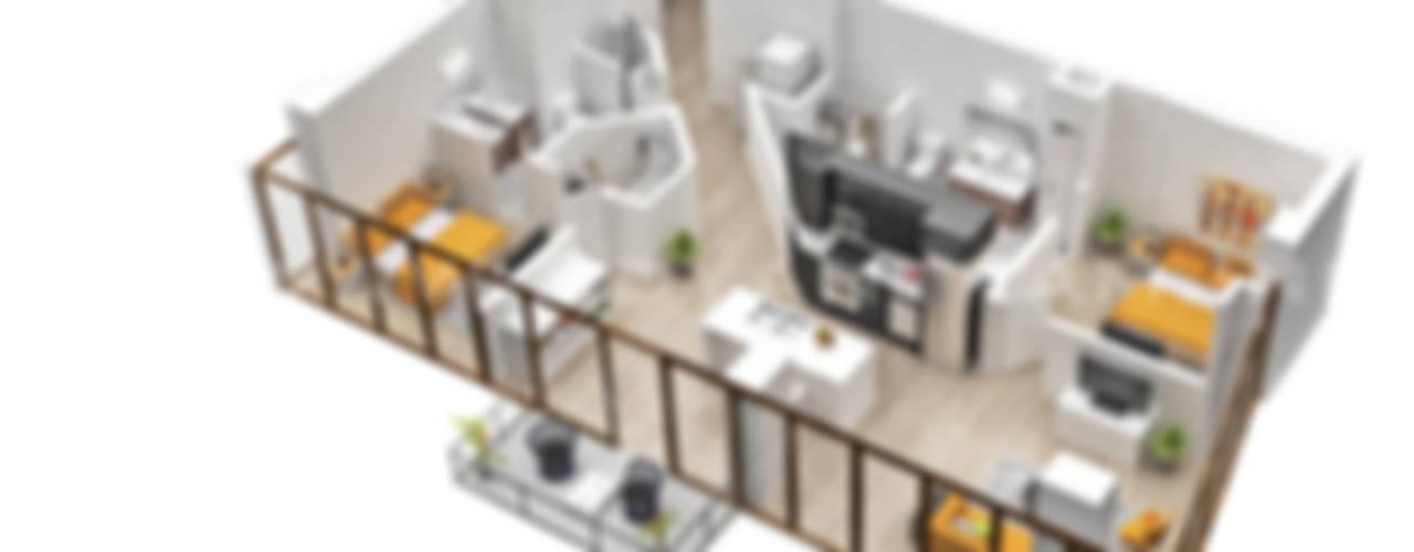 3D Floor Plan Design de Yantram Architectural Design Studio