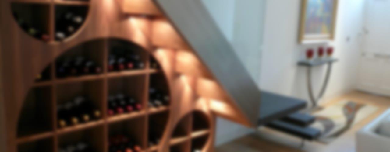 Notting Hill Villa Modern Home Wine Cellar by Space Alchemy Ltd Modern