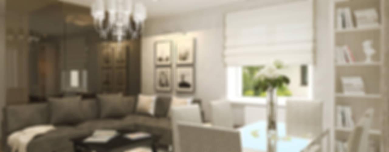 Интерьер таунхауса в коттеджном посёлке «Альпийский» Гостиная в стиле модерн от Олег Елфимычев Модерн