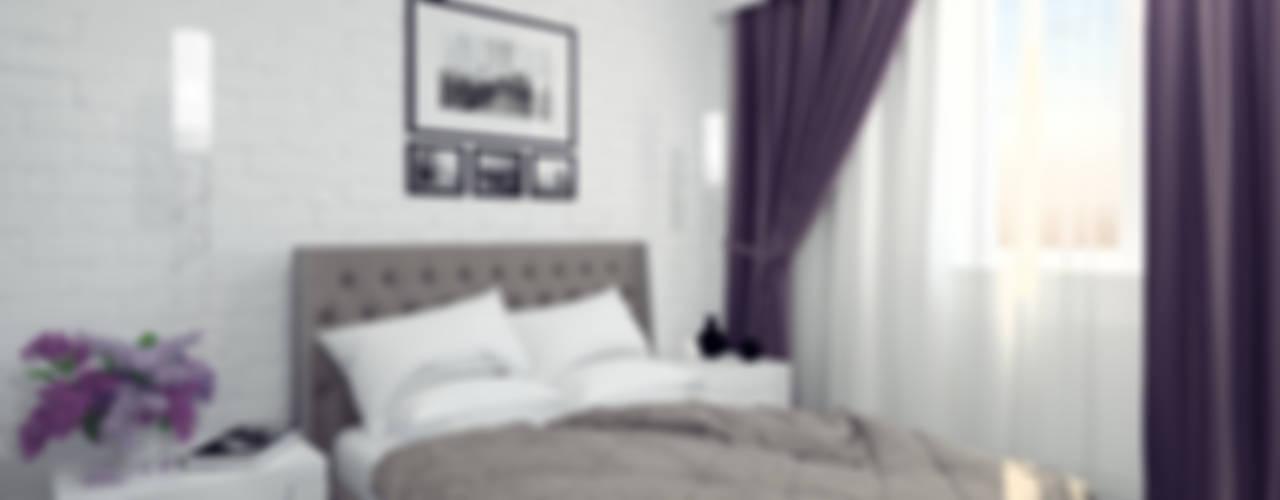 Интерьер таунхауса в коттеджном посёлке «Альпийский»: Спальни в . Автор – Олег Елфимычев