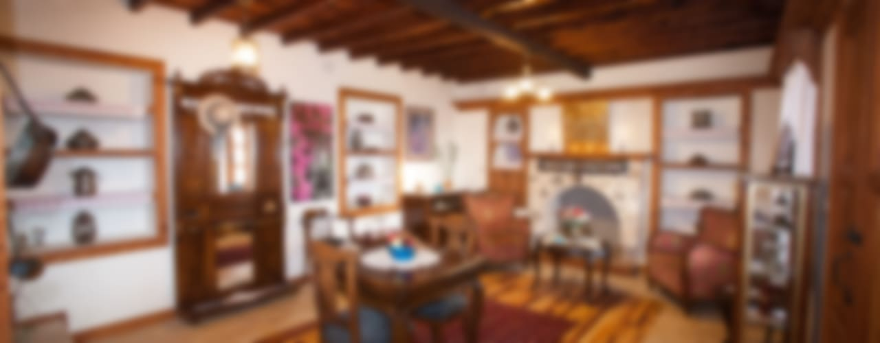 Hoyran Wedre Country Houses – Balayı Evi:  tarz Oturma Odası
