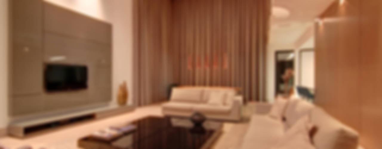 Residência TF Salas de estar modernas por ÓBVIO: escritório de arquitetura Moderno