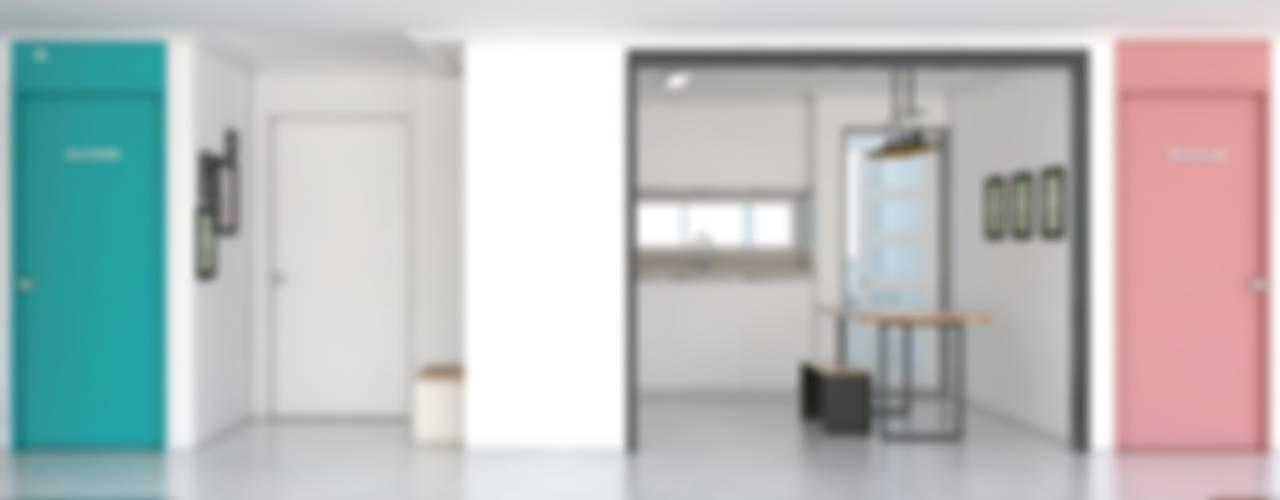 스튜디오와 주거공간의 만남 모던스타일 거실 by 미루디자인 모던