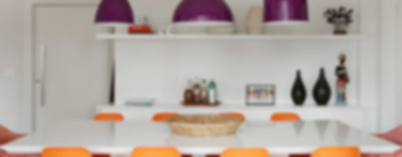 Apartamento JF: Salas de jantar  por Duda Senna Arquitetura e Decoração
