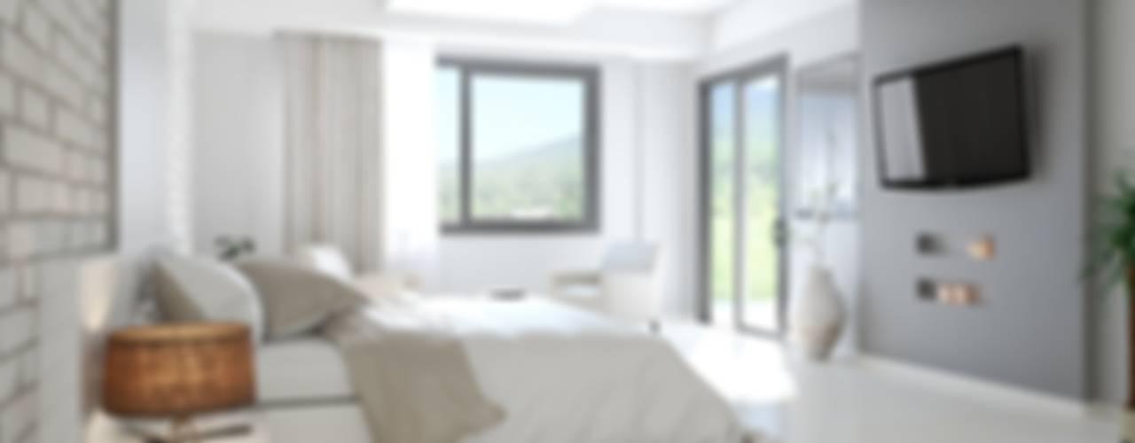 ROAS ARCHITECTURE 3D DESIGN – Bedroom View:  tarz Yatak Odası