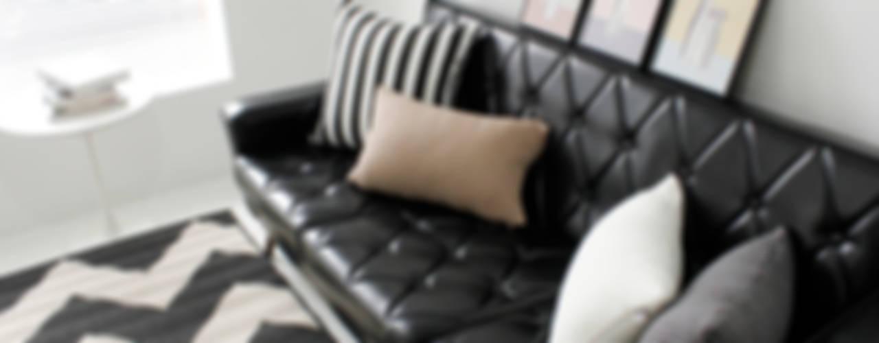 집을 꾸미는 가장 간단한 방법,  패브릭: mushroommate의  거실