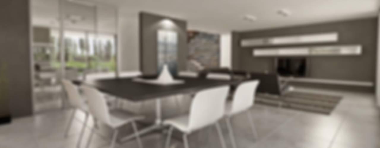 Modern dining room by Chazarreta-Tohus-Almendra Modern