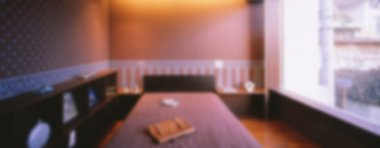 百日紅の家 | RC造高級注文住宅 モダンスタイルの寝室 の Mアーキテクツ|高級邸宅 豪邸 注文住宅 別荘建築 LUXURY HOUSES | M-architects モダン