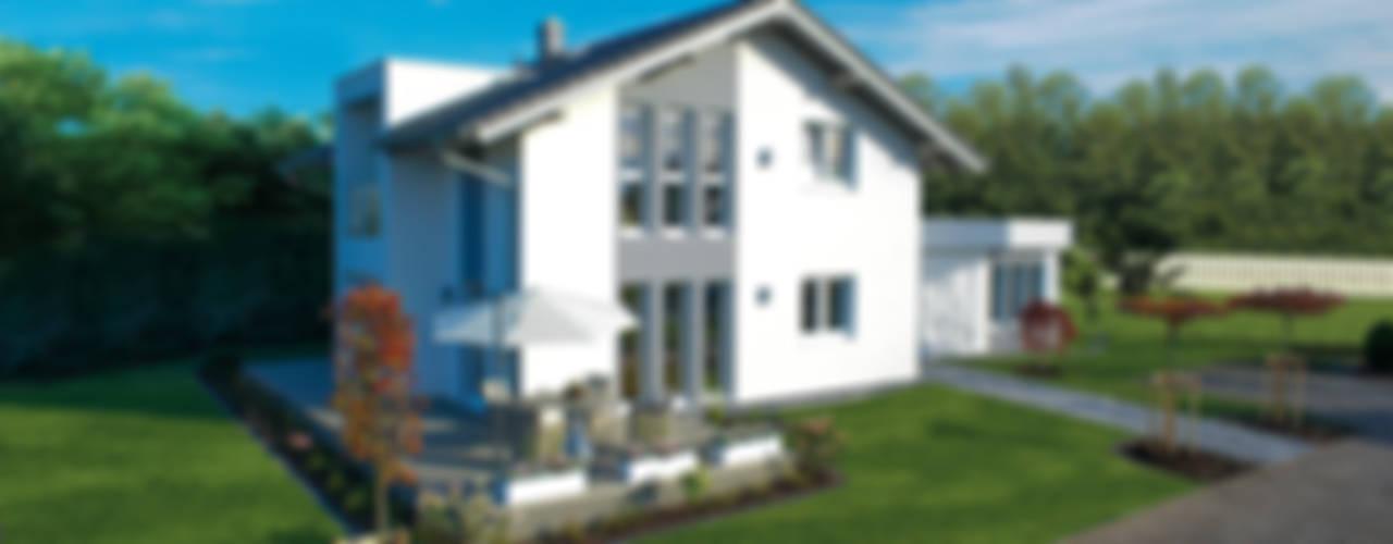Projekty,  Domy zaprojektowane przez ELK Fertighaus GmbH, Nowoczesny