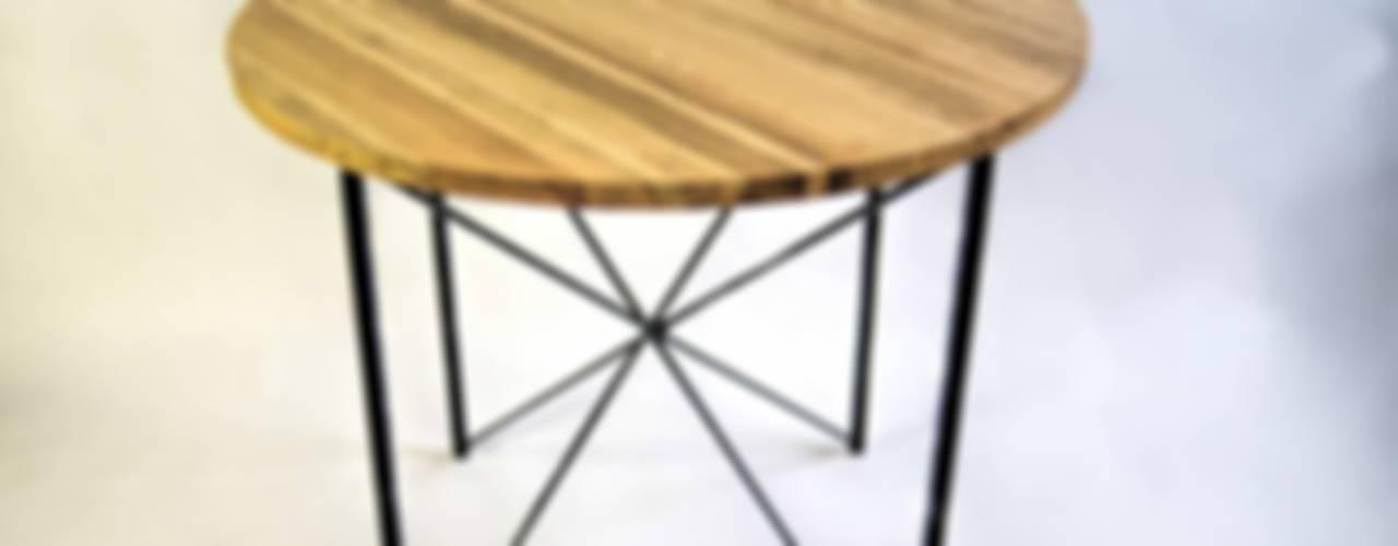 """Steel and oak wood kitchen table """"COPENHAGEN"""" de NordLoft - Industrial Design Escandinavo"""