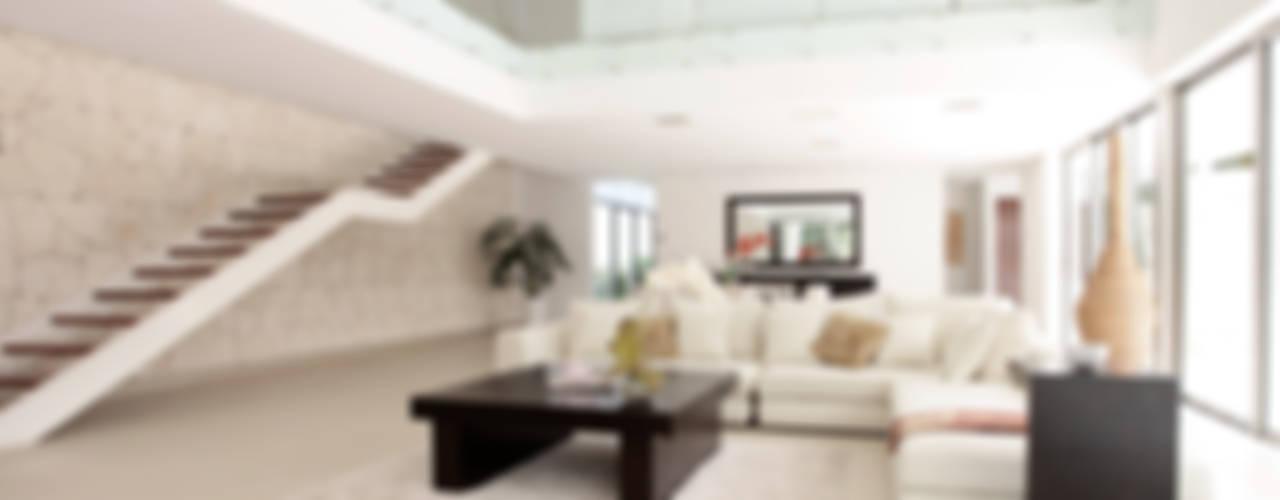 Nowoczesny korytarz, przedpokój i schody od Enrique Cabrera Arquitecto Nowoczesny