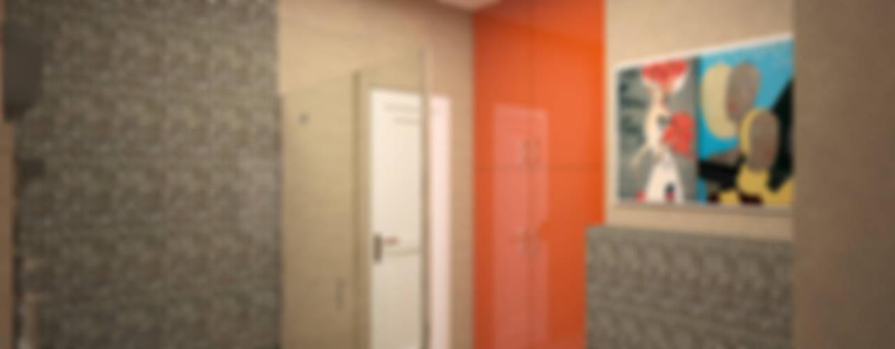 """"""" Палитра Мондриана """" Квартира 64,2 кв.м, Москва Ванная комната в эклектичном стиле от Krupp Interiors Эклектичный"""