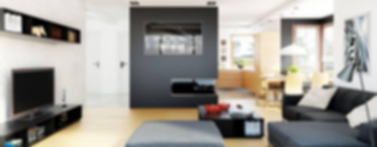 Wohnzimmer von Pracownia Projektowa ARCHIPELAG,