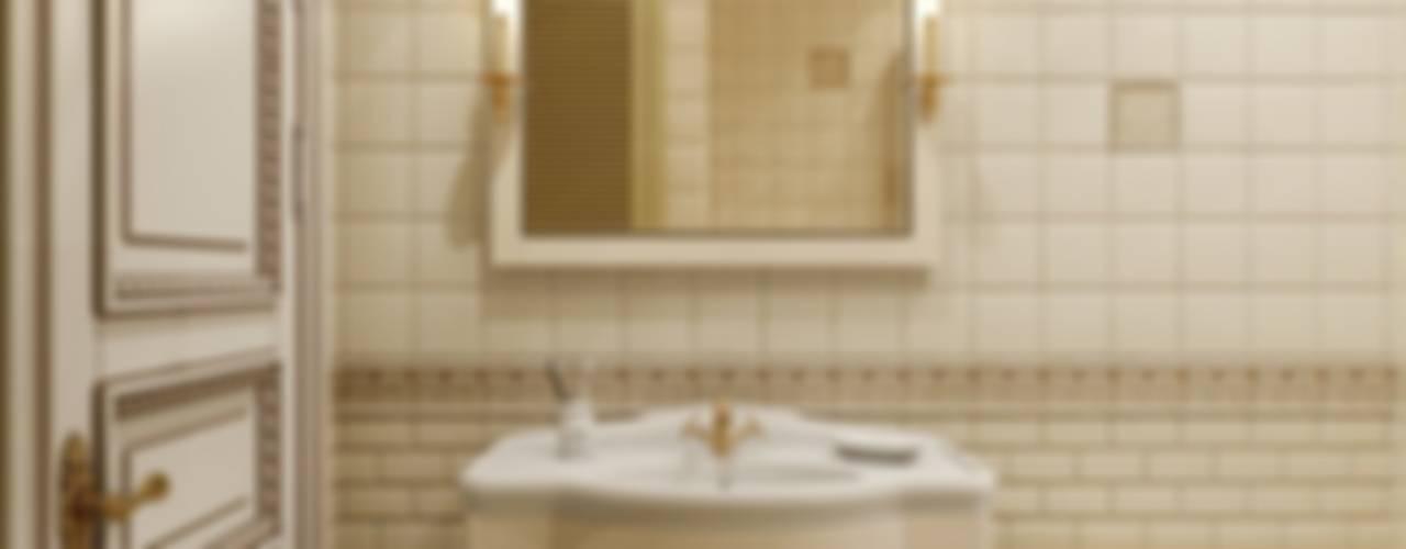 Квартира в классическом стиле в ЖК «Смольный Парк», 115 кв.м.: Ванные комнаты в . Автор – Студия Павла Полынова