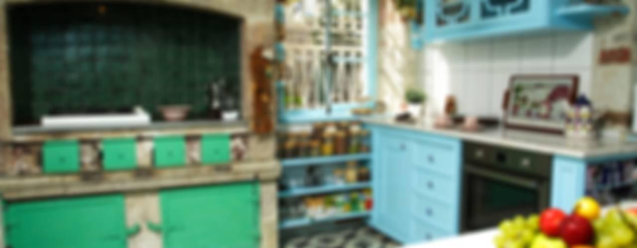 Kitchen Cocinas de estilo mediterráneo de LOLA 38 Hotel Mediterráneo