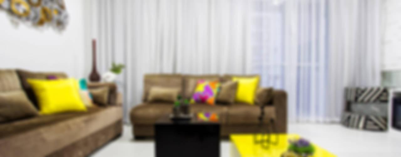 Amanda Pinheiro Design de interiores Гостиная в стиле модерн Желтый