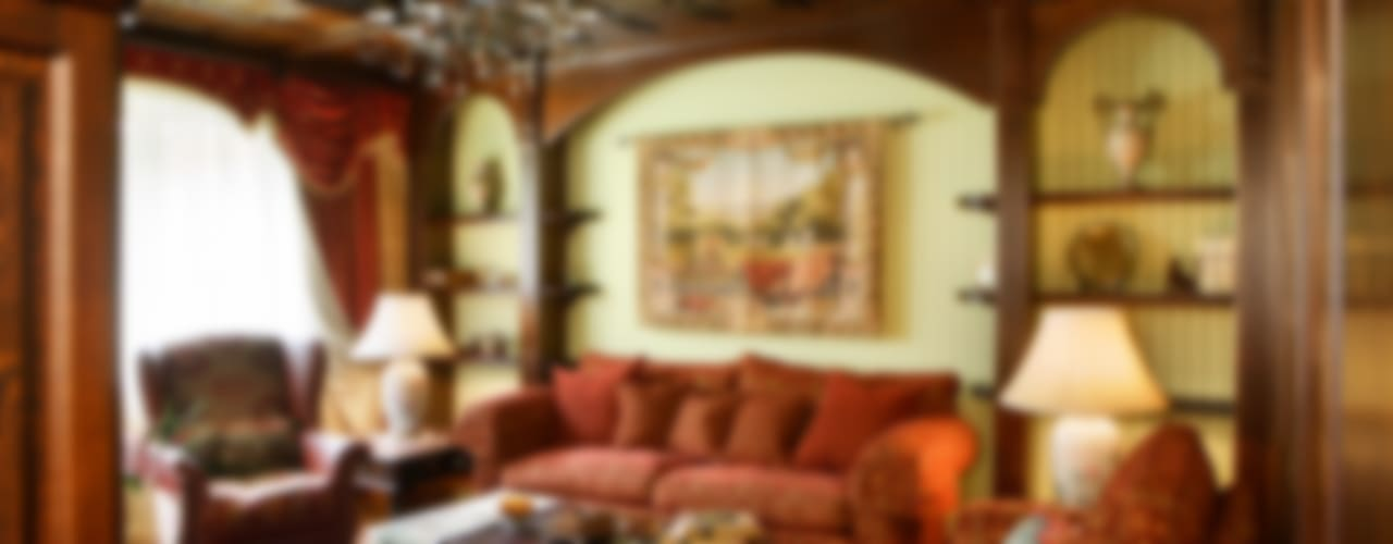 Баня в английском стиле Гостиная в рустикальном стиле от RRdesign Рустикальный