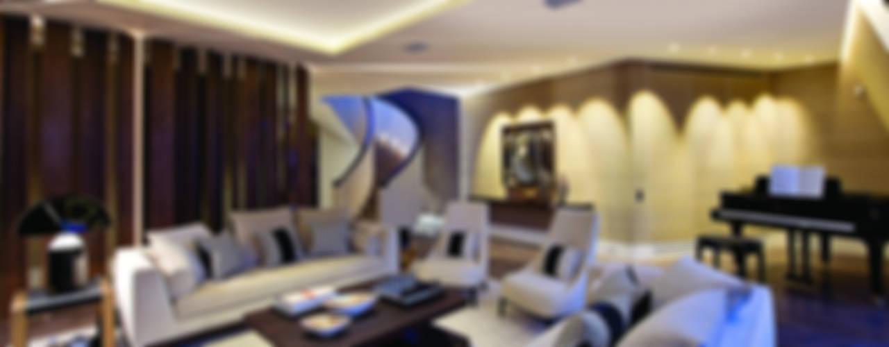 Trafalgar One, Canadian Pacific Building, London Salas de estar modernas por Moreno Masey Moderno