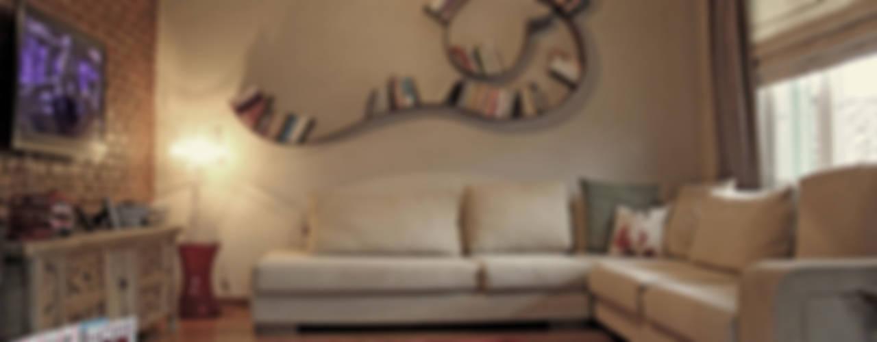 غرفة المعيشة تنفيذ Bilgece Tasarım, حداثي