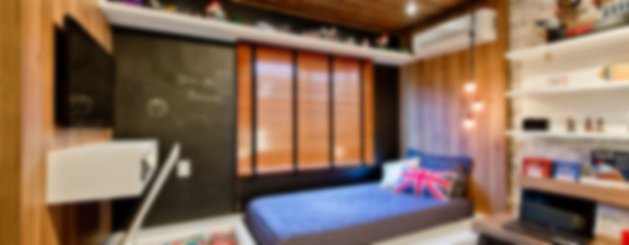 Estilo industrial para quarto de menino: Quarto infantil  por Espaço do Traço arquitetura