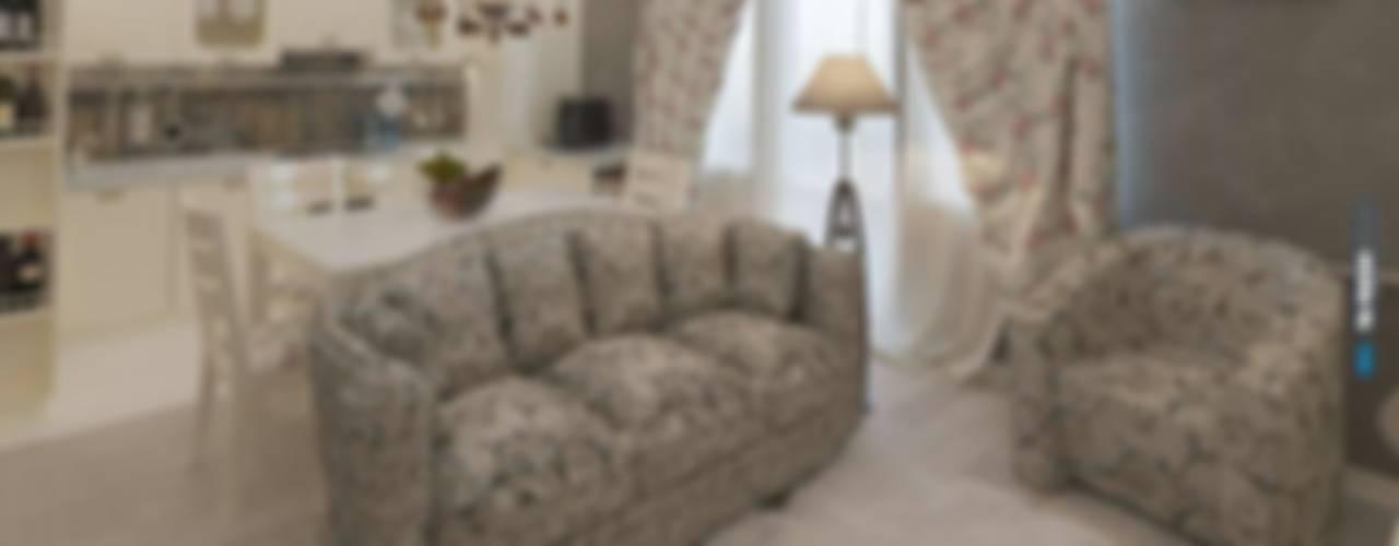 Коттедж 150 кв.м. в Энгельсе, Волжский проспект: Гостиная в . Автор – hq-design