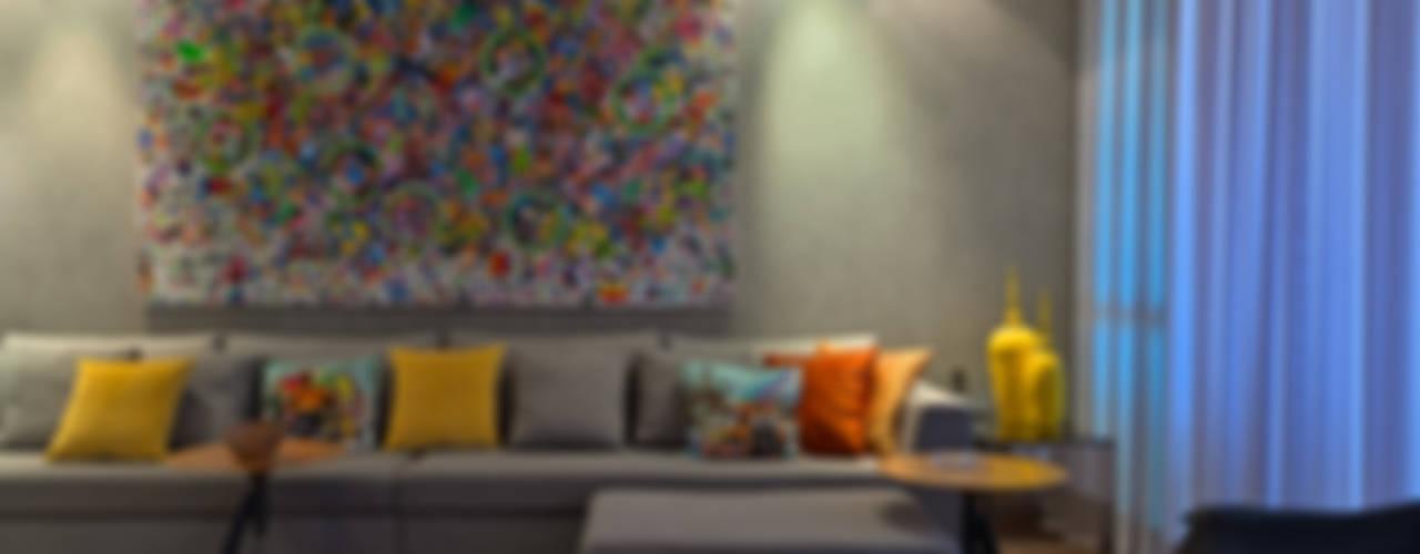 Salas de estilo  por Mariana Borges e Thaysa Godoy, Moderno