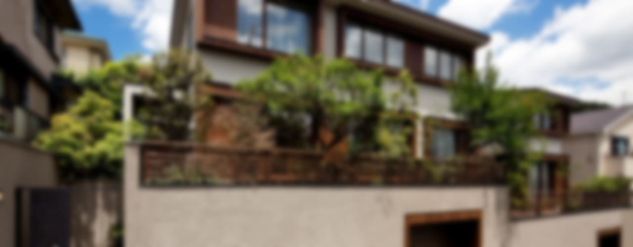 向山建築設計事務所 Casas estilo moderno: ideas, arquitectura e imágenes Madera