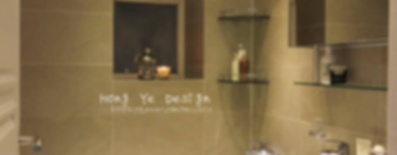 실용적인 수납과 공간활용 32py: 홍예디자인의  욕실