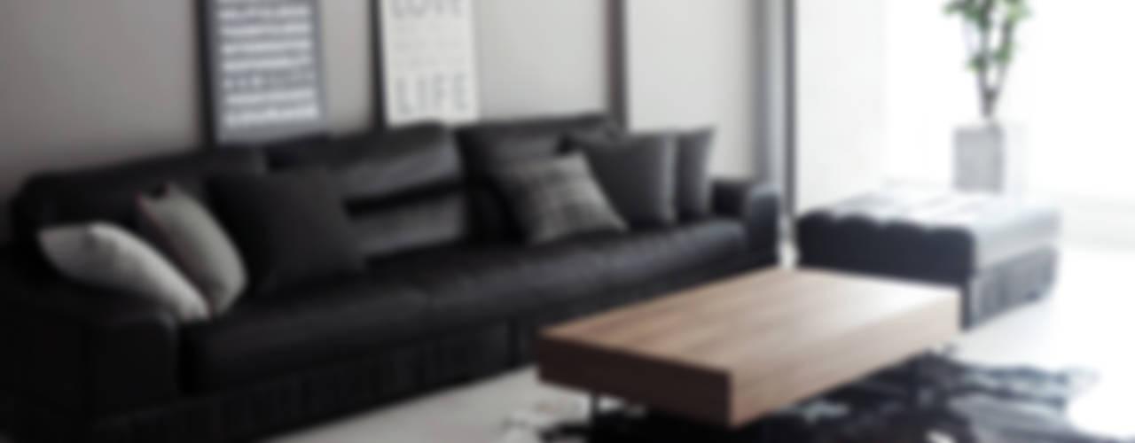 44평형 아파트 인테리어 전체시공부터 스타일링까지 모던스타일 거실 by 마르멜로디자인컴퍼니 모던