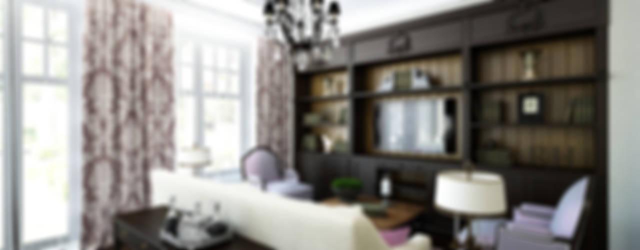 ЭЛЕГАНТНАЯ КЛАССИКА Гостиная в классическом стиле от Творческая мастерская дизайна интерьера Анны Першаковой Классический