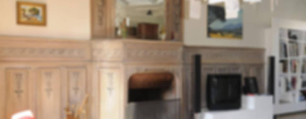 patine salon art déco 2 par mètre Salon classique Bois Orange