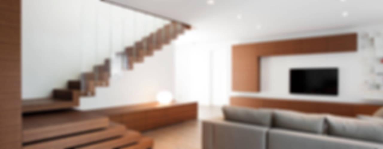 Z House Minimalist living room by EXiT architetti associati Minimalist