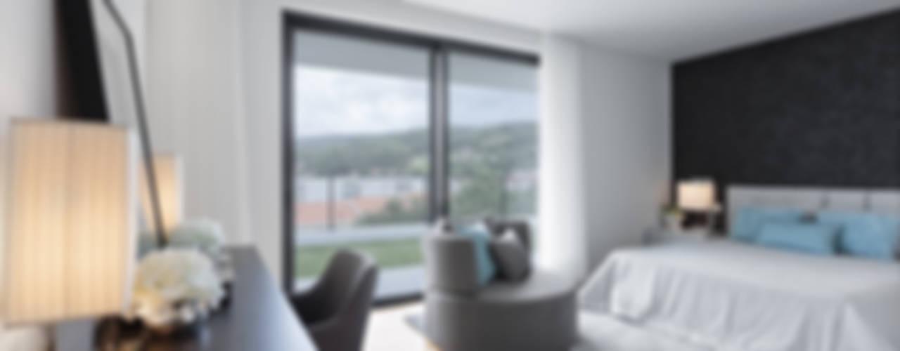 Dormitorios de estilo moderno de CASA MARQUES INTERIORES Moderno