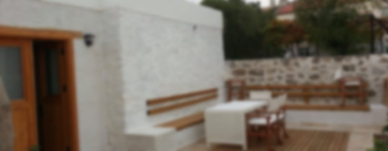 F&F mimarlik – Taş Ev:  tarz Teras