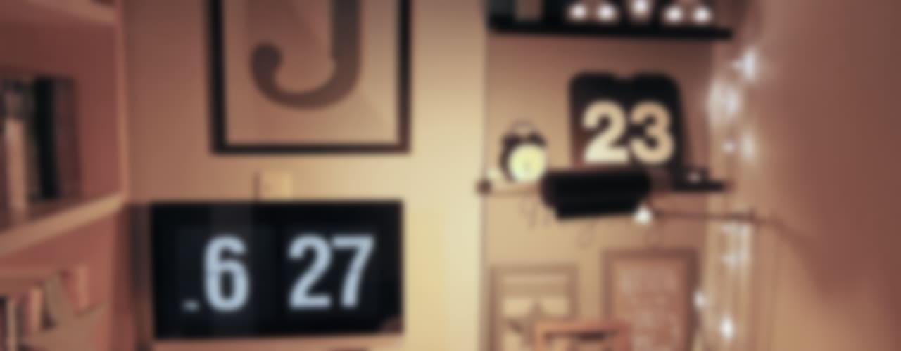 Projekty,  Domowe biuro i gabinet zaprojektowane przez little lamb story, Skandynawski
