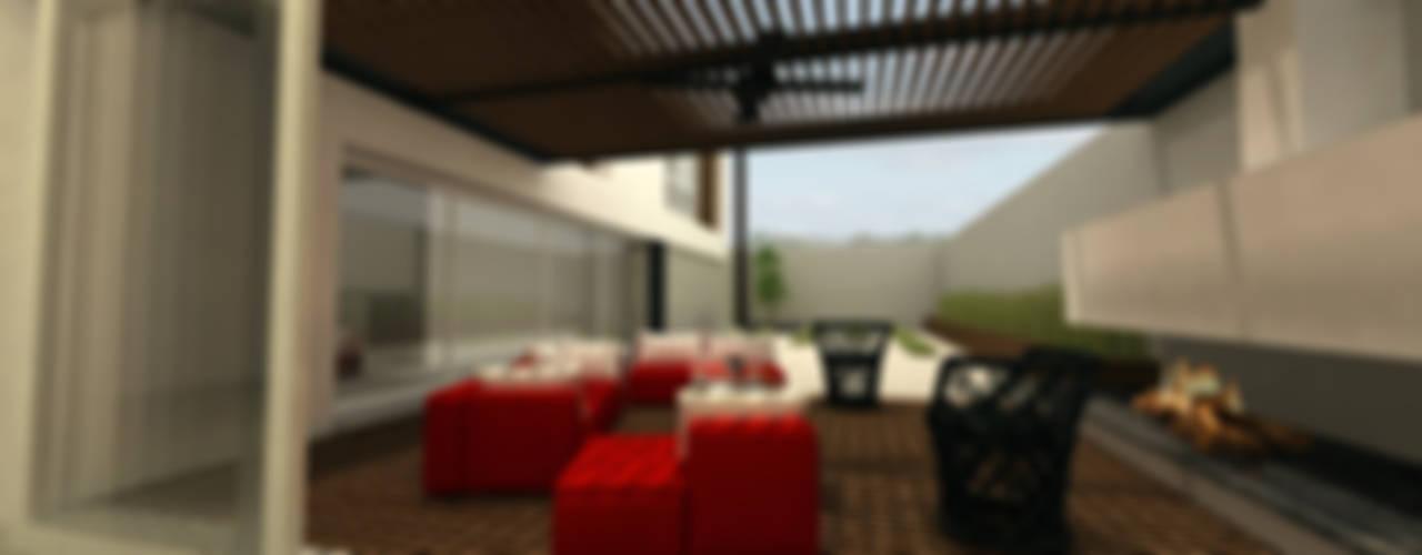 Terrazas de estilo  por fc3arquitectura, Moderno