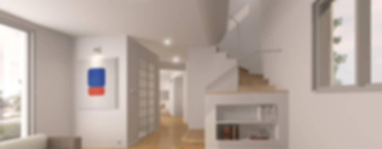 거실전경: IDÉEAA _ 이데아키텍츠의  거실
