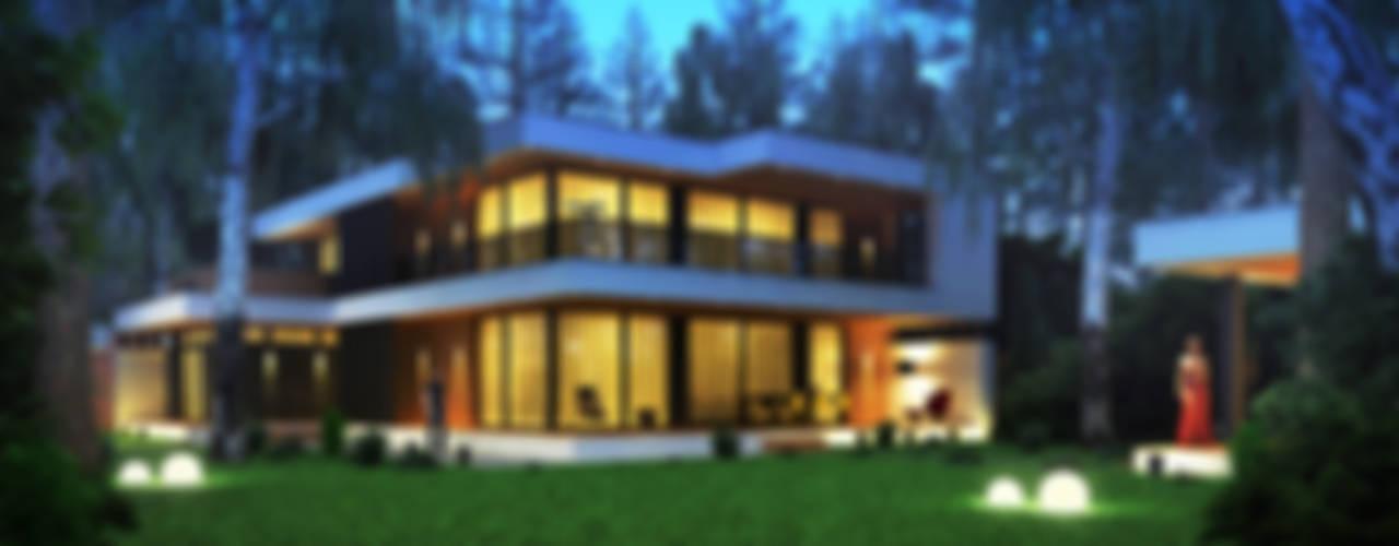 Проект современного частного дома в Казани: Дома в . Автор – Sboev3_Architect