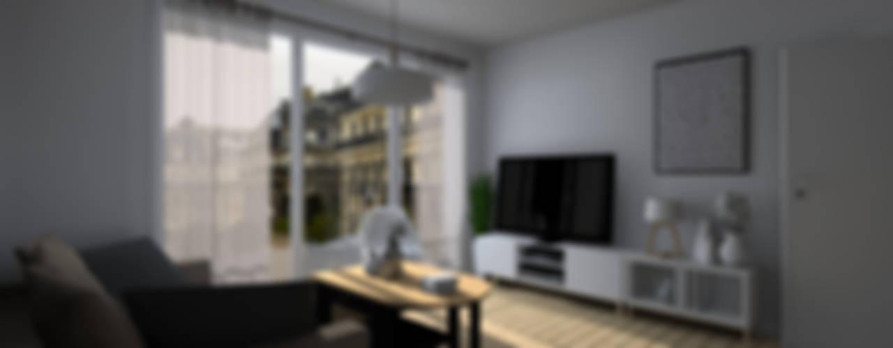 Minimalistische woonkamers van Sandia Design Minimalistisch