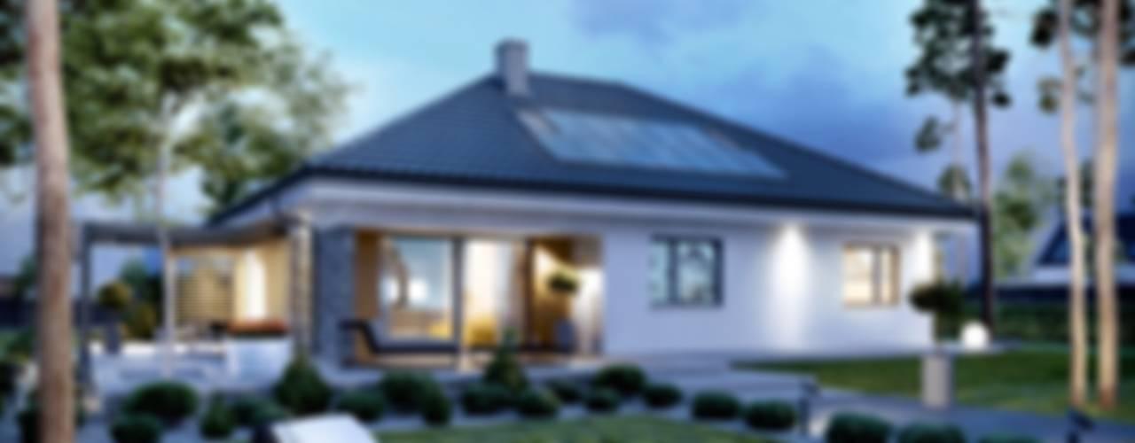 PROJEKT DOMU ASTRID (MAŁA) G2 Nowoczesne domy od Pracownia Projektowa ARCHIPELAG Nowoczesny