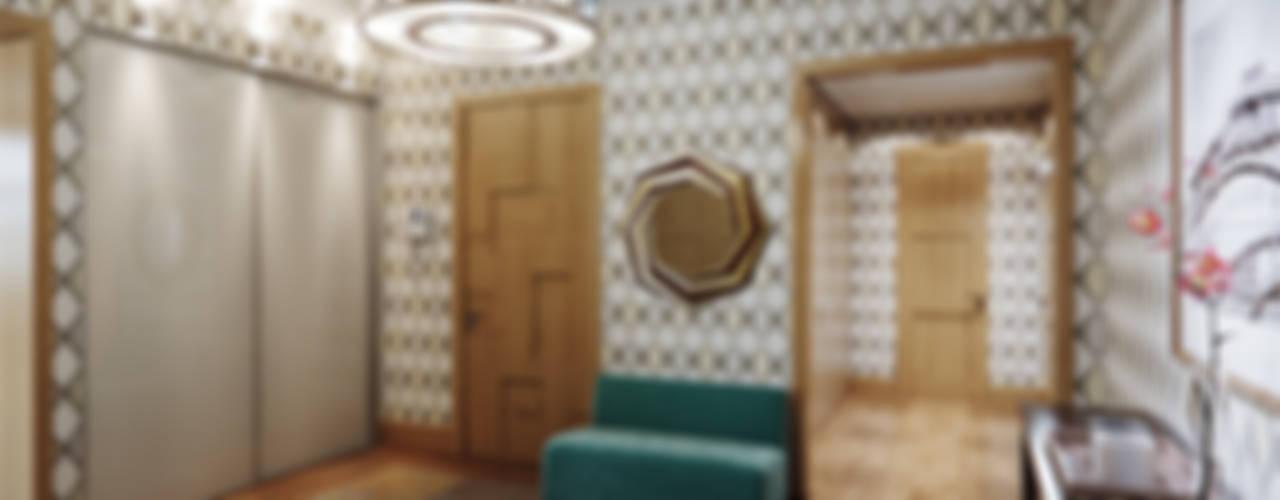 Квартира в ЖК Dominion Коридор, прихожая и лестница в эклектичном стиле от MARION STUDIO Эклектичный