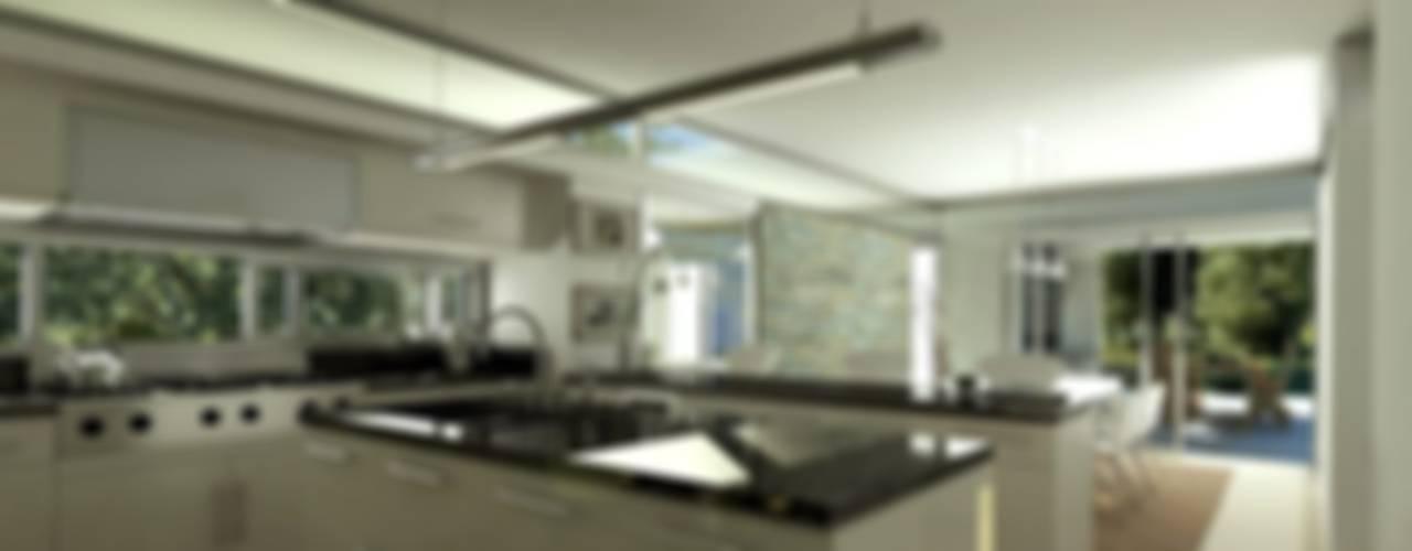 Vivienda en Grand Bell Cocinas modernas: Ideas, imágenes y decoración de AMADO arquitectos Moderno