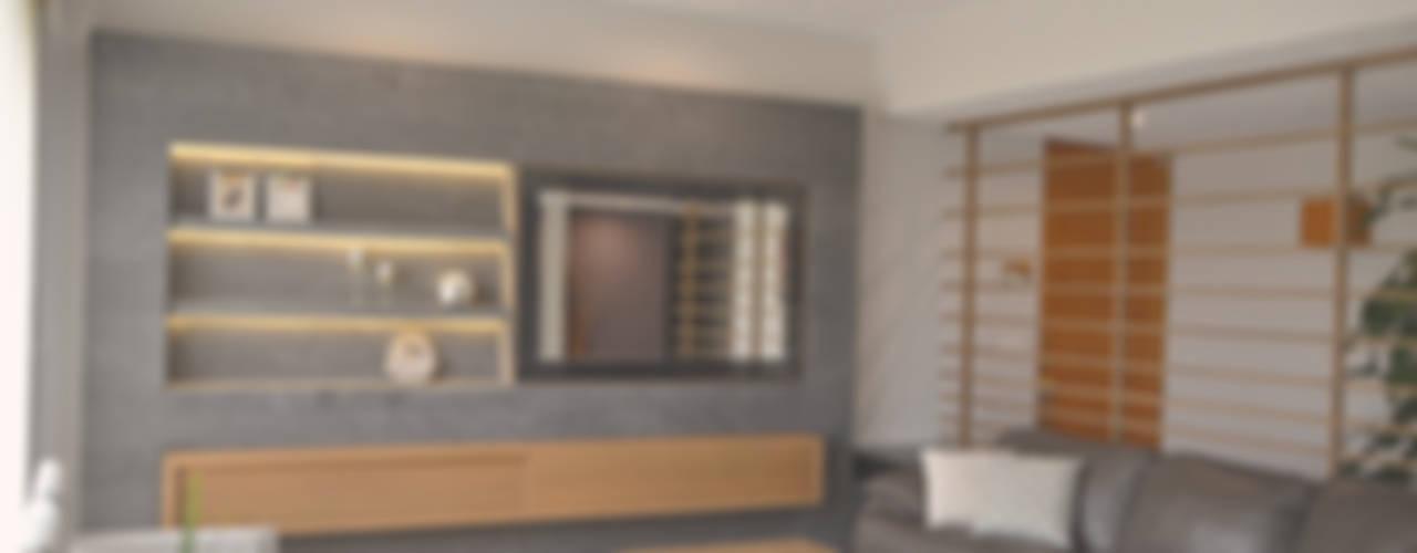 غرفة المعيشة تنفيذ CuboB Arquitectura de Interiores