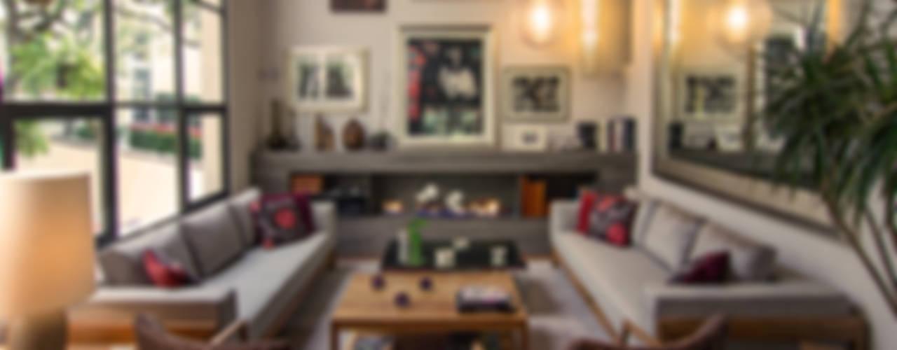 modern Living room by Weber Arquitectos