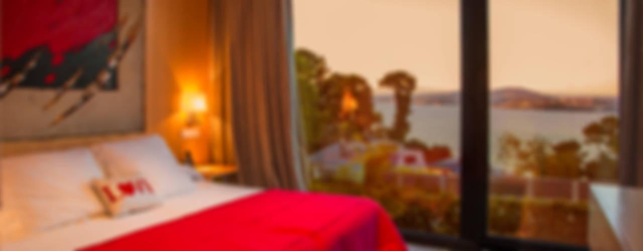 Mansión en el campo con aire urbano Dormitorios de estilo moderno de Belén Sueiro Moderno