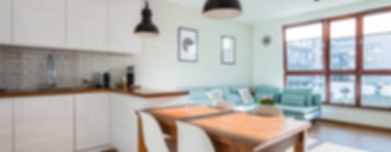 Cocinas de estilo escandinavo de Kameleon - Kreatywne Studio Projektowania Wnętrz Escandinavo
