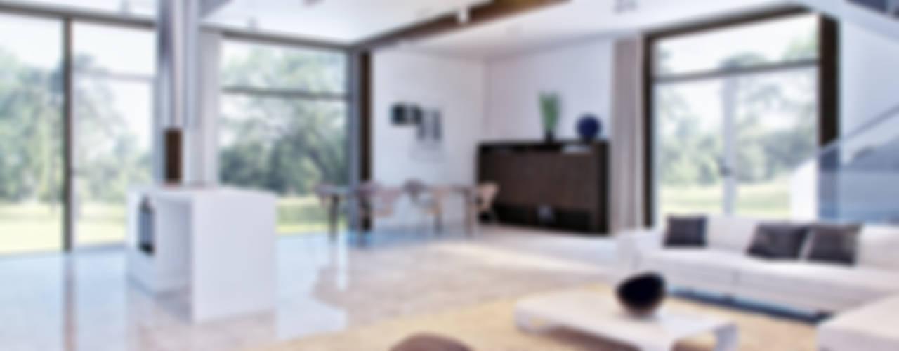 Современный фахверк: Гостиная в . Автор – clear-house