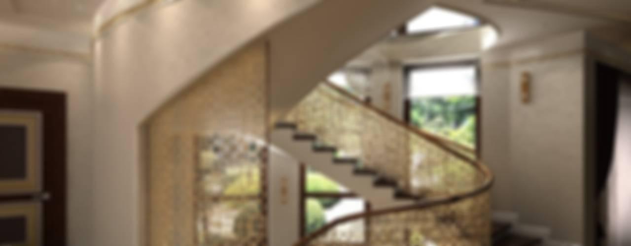 Интерьер дома во Владикавказе Коридор, прихожая и лестница в классическом стиле от Мастерская архитектора Аликова Классический