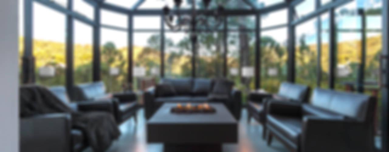 Ruang Keluarga Gaya Rustic Oleh VNK Arquitetura e Interiores Rustic