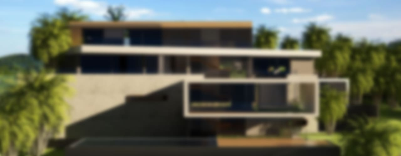 Moradia de dois pisos por Espaço FA – Arquitetura, Interiores e Decoração